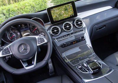 Mercedes GLC coupé blanc location